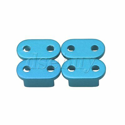 4PCS Blue Alloy Upgrade DIY Spring Fixing Piece Part for WPL RC1:16 Truck
