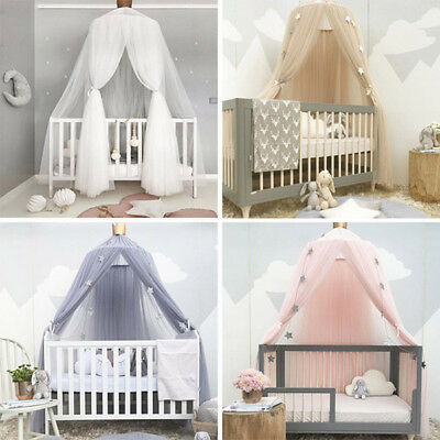 Round Bed Mosquito Hanging Cotton Bed Canopy Mosquito Net Curtain Hammock Baby D