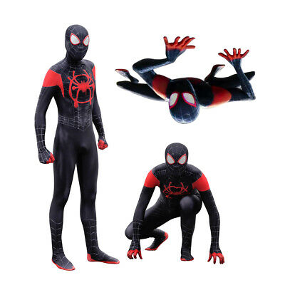 Adult-Kids Spider-Man-Into-the-Spider-Verse-Miles-Morales-Zentai-Cosplay COSUME