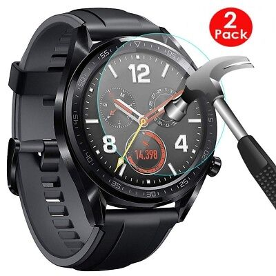 2 x (2 Pack) For Huawei Watch GT Premium Tempered Glass Screen Protector