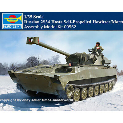 Trumpeter 09562 1/35 Russian 2S34 Hosta Self-Propelled Howitzer/Mortar Model Kit