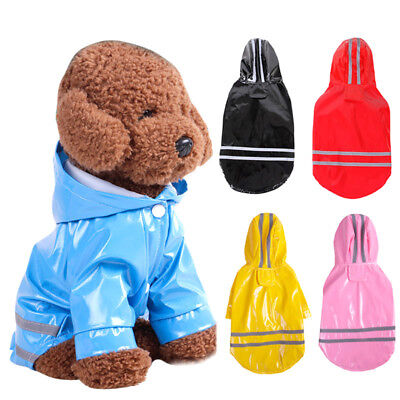 Waterproof Dog Raincoat Reflective Strip Pet Clothes for Small Medium Puppy Dog