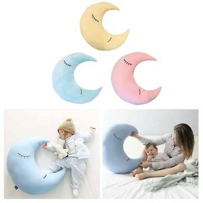 Bed Bedroom Cotton Cloud Moon Cushion Pillow Soft Baby Nursery Kids Gift New