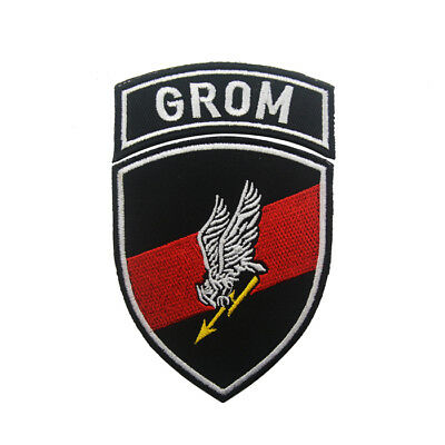 Poland GROM badge Embroidery Hook patches Tactical Army Morale Patch armband