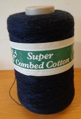 NEW - Forsell Super Combed Cotton, Knits at 2ply - Colour Navy - 293 g on Cone