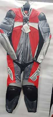 Richa FORCE NeonRed Leather suit 1 Piece sports Motorcycle/Motorbike Racing suit