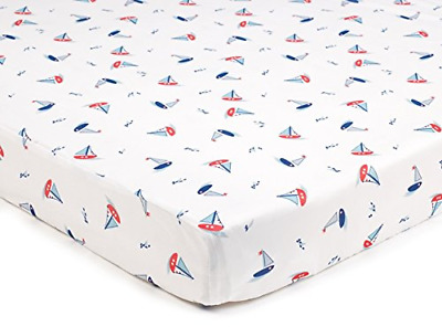 BreathableBaby Super Dry Cot Bed Sheets In Seaside Pack of 2