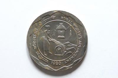 FAO / F.A.O.- India 10 Rupees  1980 -  uncirculated  (stained/tarnish)