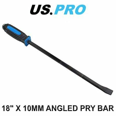 "US PRO 18"" X 10MM Angled Pry Bar Fully Hardened 6851"