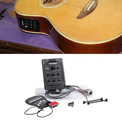 4 Band EQ Guitar Equalizer Acoustic Guitar Tuner Preamp Piezo Pickup For Fishman