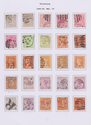 Victoria 1886/99 Collection 4 Pages of Used & Mint Mounted to 2/-