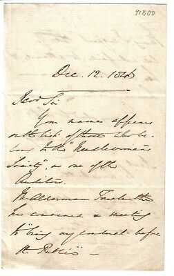 Earl of Shaftesbury -1846 ALS: meeting of Needlewomans Soc- conduct as Ld Ashley