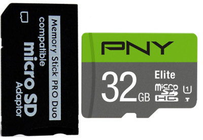 32GB Adata MicroSD + Memory Stick Fit For Sony PSP E1000 E1003 E1004 2000 3000