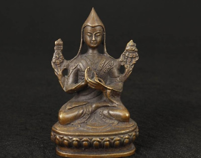 Nice Tibet Old Bronze Collectable Handwork Casting Buddha Ornament Statue Figure