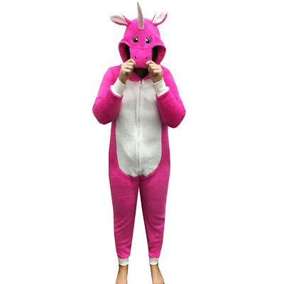 5036337a5f62 GIRLS BOYS CHILDRENS Animal Fleece All In One Kids Costume Outfit ...