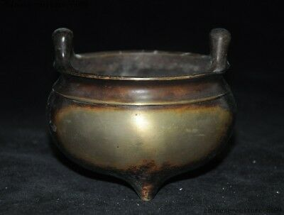 Marked Ancient Old Chinese dynasty Buddhism bronze statue Incense Burner censer