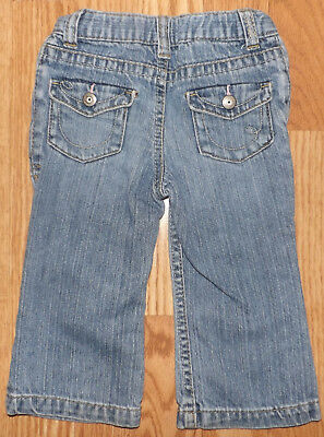 Genuine Kids Infant Unisex Baby Girls Or Boys Jeans Blue Pants Size 18 Month
