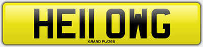 WG INITIALS number plate Hello CHERISHED REGISTRATION NO ADDED FEES HE11 OWG REG