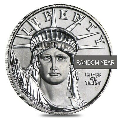 1/10 oz Platinum American Eagle $10 Coin BU (Random Year)