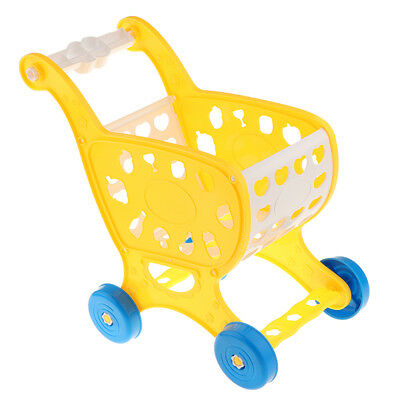 Children Kids Supermarket Shop Play Role Superstore Trolley Toy Yellow