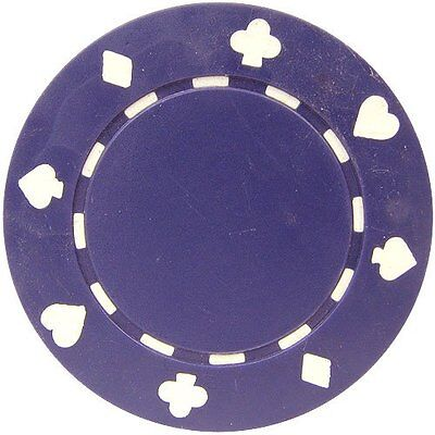 50 Clay Composite Suited 11.5-Gram Poker Chips (PURPLE)