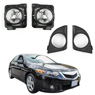 LH+RH Foglight Luz De Niebla Lamp Cover Metal Without Bulbs Pr Acura TSX 09-10ES