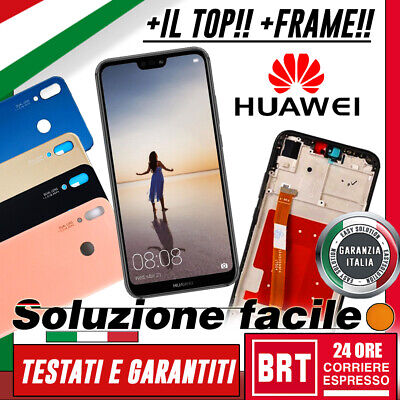 Lcd+Touch Screen+Frame Huawei P20 Lite Ane-Lx1 Originale Display Schermo 24H!