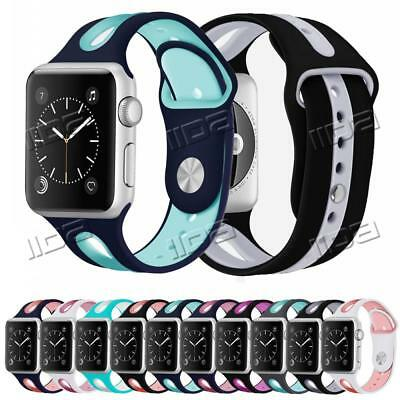 For Apple Watch Series 3/2/1 Silicone Bracelet Strap iWatch Band Replace 38/42mm