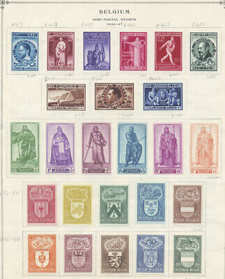 Belgium 1946-1948 Complete Sets Semipostals Selection Mint $341.60