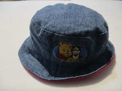 0466a3f0b80 WINNIE THE POOH   Tigger Kid s Solid Blue Red Lined Bucket Hat ...