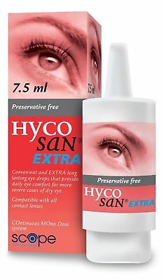 Hycosan Extra Lubricating Eye Drops 7.5ml Preservative Free For Dry Eyes