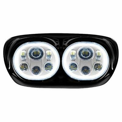 Hogworkz '98-'13 Road Glide Dual Chrome Halomaker Led Headlight