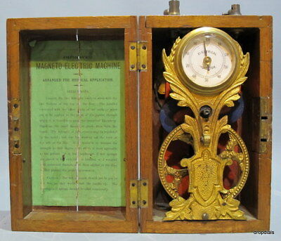 Magneto-Electric Machine with Dial Indicator. Very Decorative.