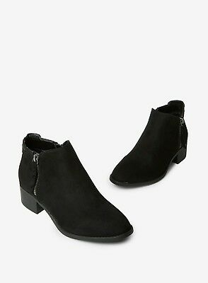 Ex Dorothy Perkins WIDE FIT Black Faux Suede Ankle Boots Size 3 - 9  RRP £28