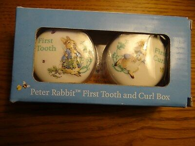 peter rabbit baby first tooth/first curl set boxed