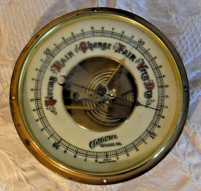 Colonial Optical Company Barometer Glass and Brass Made in Western Germany