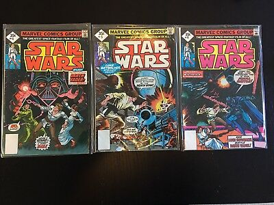 Star Wars Comic Books #4, #5 And #6 (Nov 1977, Marvel) Reprints