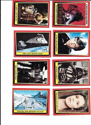 STAR WARS Return of the Jedi trading cards ~ 65 cards 1983 TOPPS