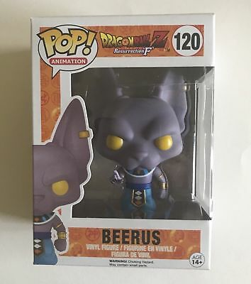 Funko Pop Dragon Ball Z Res 'F' Non-Metallic Beerus #120 Funimation Exclusive