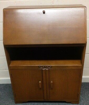 Vintage Art Deco Style 'Jentique' Fall Front Writing Bureau. Collect/ Del - Hull