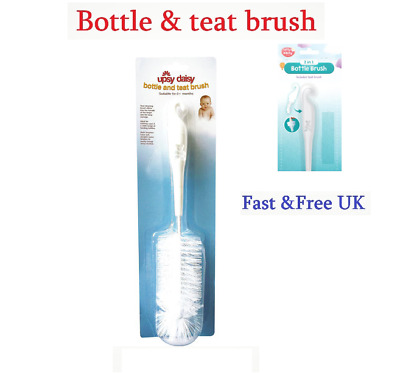 Feeding Bottle and Teat Nipple Cup Cleaning Bristle Brush Set
