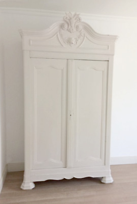 Wonderful French Antique Louis Philippe Painted Armoire