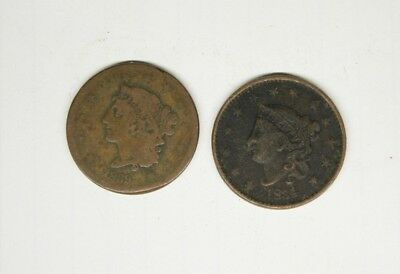 Braided Hair 1839 /  Coronet 1834   Large Cents   ...................1-10-30