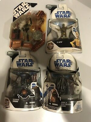 STAR WARS Toy lot C3po Destroyed Droid Jawa   - all new In Original Packaging