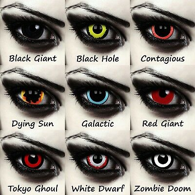 Mini sclera contacts 17mm Halloween zombie witch costume colored costume lenses