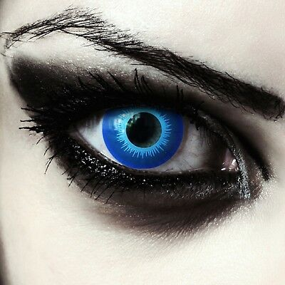 Blue colored contacts for Halloween costume White Walker GOT cosplay elf lenses