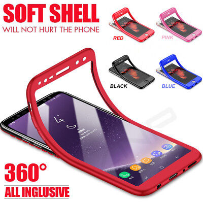 For Samsung Galaxy Note 9 S8 S9+ Luxury Soft TPU Silicone 360° Full Case Cover