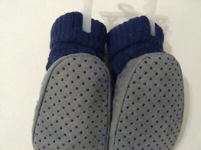 Toddlers Thick Slipper Sock With Gripper Bottom Size 6-12 Months