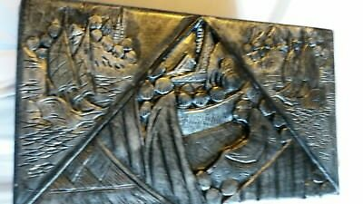 antique chinese box camphor.wooden carved box.antique oriental box.man box