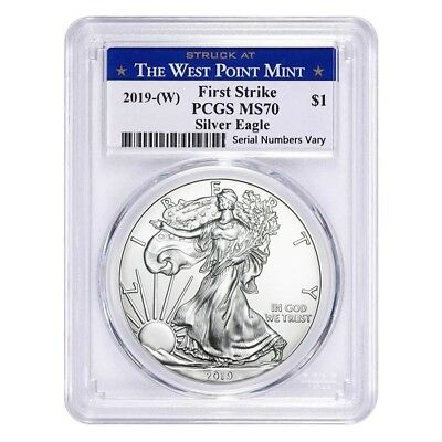 Sale Price - 2019 (W) 1 oz Silver American Eagle $1 Coin PCGS MS 70 First Strike